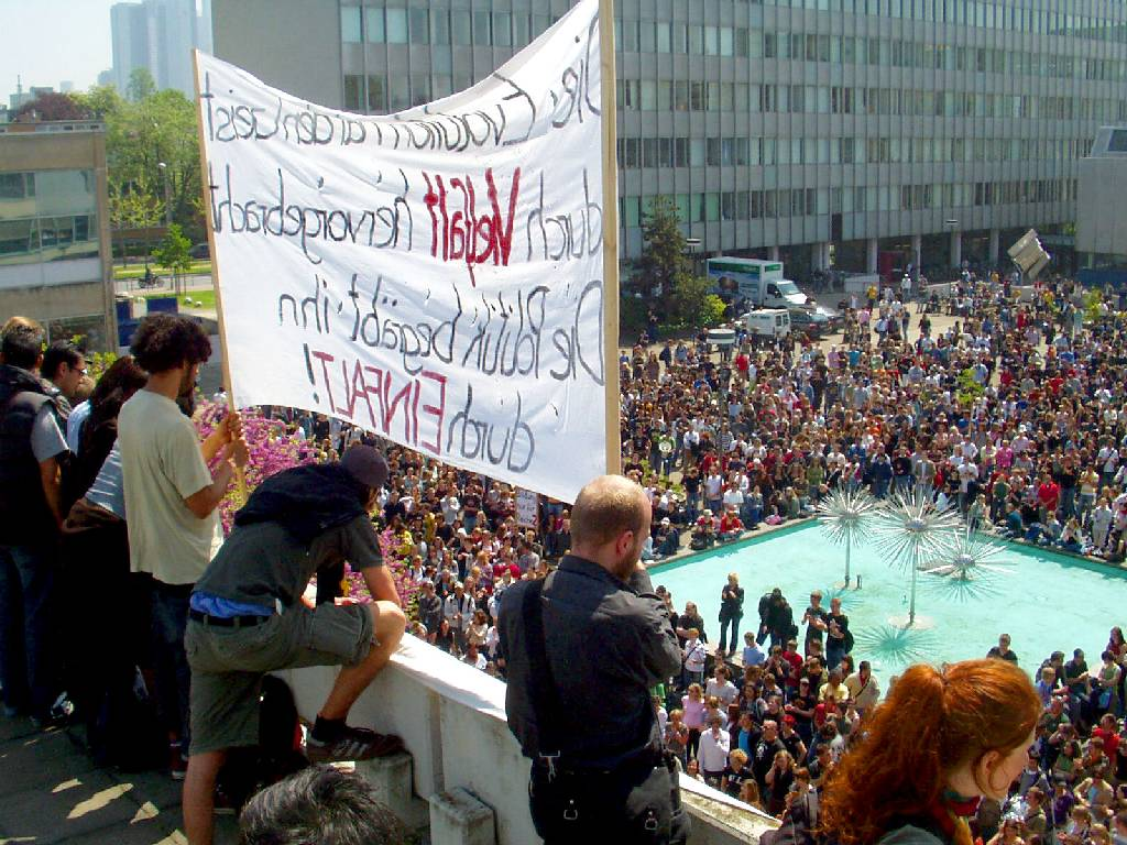 protests in Frankfurt/Main